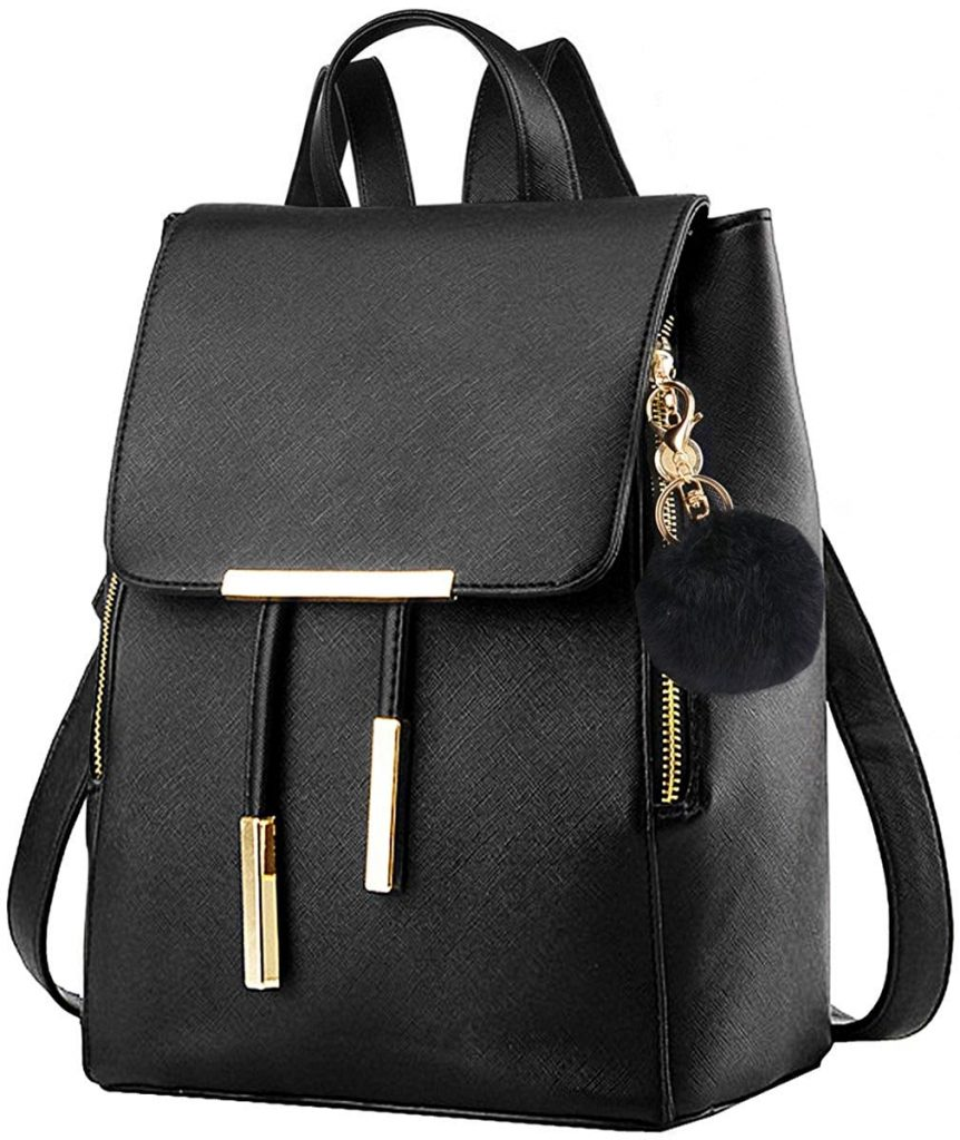 coofit faux leather backpack