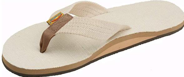 rainbow hemp sandals