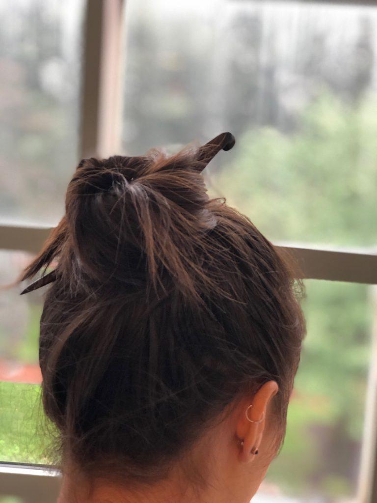 hair stick bun